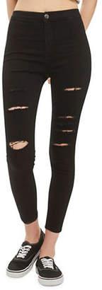 Topshop PETITE Super Rip Joni Jeans 28-Inch Leg