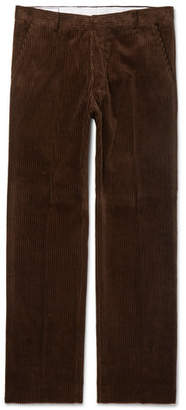 Ami Cotton-Corduroy Trousers - Brown