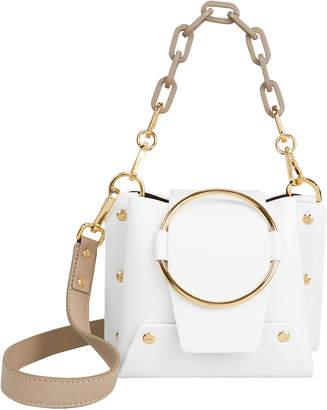 Yuzefi Delila Gold Chain White Bag
