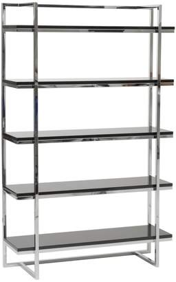 Apt2B Ontario 5 Shelf Bookcase BLACK/CHROME