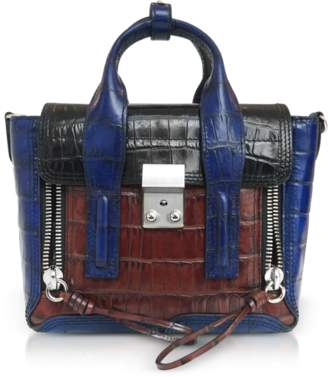 3.1 Phillip Lim Croco Leather Pashli Mini Satchel