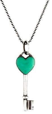 Tiffany & Co. Heart Key Pendant Necklace
