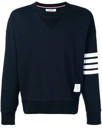 Thom Browne 4-bar sleeve cotton sweatshirt