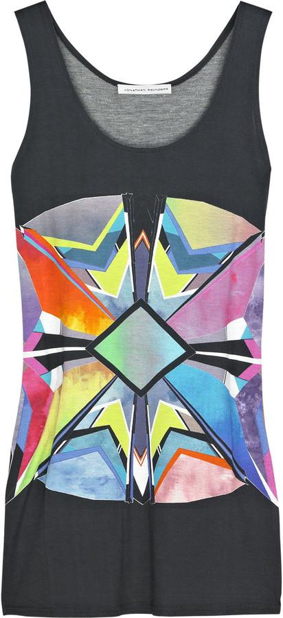 Jonathan Saunders Jersey printed tank top