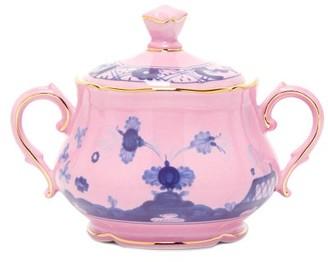 Richard Ginori Oriente Italiano Porcelain Sugar Bowl - Pink Multi