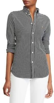 Polo Ralph Lauren Long-Sleeve Striped Cotton Button-Down Shirt