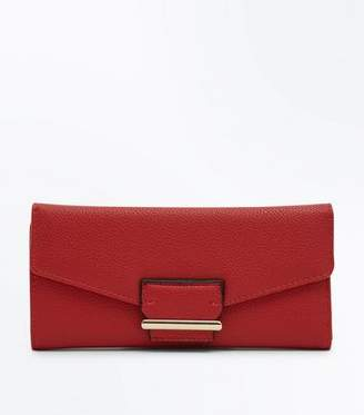 New Look Red Panel Foldover Purse