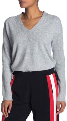 Fate V-Neck High/Low Hem Sweater