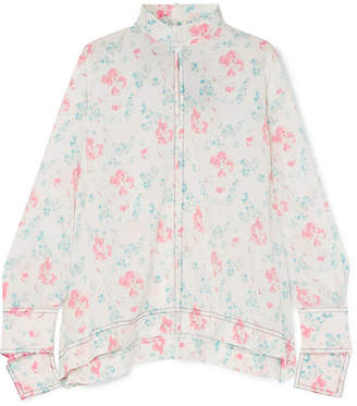 Joseph Antoine Floral-print Silk Crepe De Chine Blouse - White