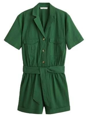 MANGO Cotton pockets jumpsuit