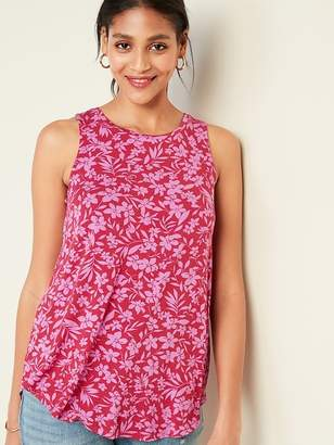 Old Navy Luxe Floral-Print Swing Tank for Women