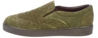 Bottega Veneta Intrecciato Suede Sneakers