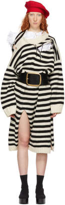 Charles Jeffrey Loverboy Black and White Slash Stripe Jumper Dress