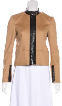 Gucci Camel Leather-Trimmed Jacket