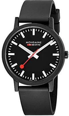 Mondaine Unisex-Adult Quartz Watch, Analogue Classic Display and Rubber Strap MS1.41120.RB