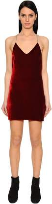 Amiri Open Back Velvet Mini Dress
