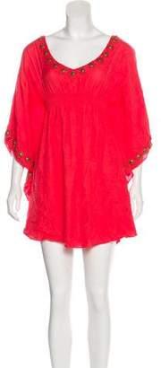 Melissa Odabash Embellished Mini Dress