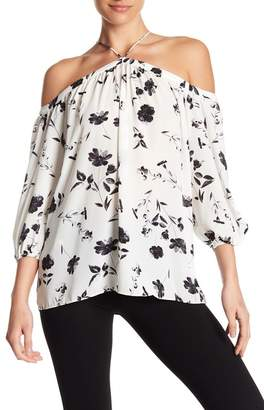 1 STATE 1.State Off the Shoulder Sheer Chiffon Blouse