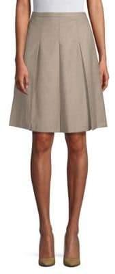 Max Mara Classic Pleated A-Line Skirt