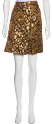 Miu Miu Metallic Jacquard Skirt