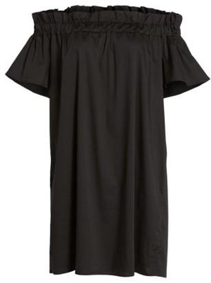 Women's Pleione Off The Shoulder Poplin Shift Dress $69 thestylecure.com