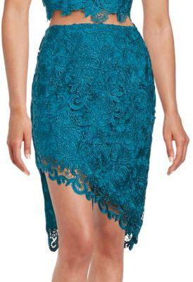 Guess Asymmetrical Lace Skirt