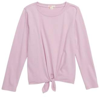 J.Crew crewcuts by Tie Front Long Sleeve Tee