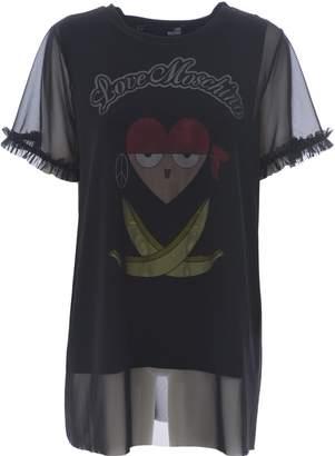 Love Moschino Tulle Overlay Graphic T-shirt