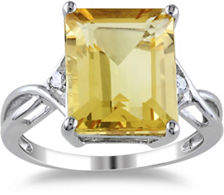 CONCERTO Sterling Silver Citrine and White Topaz Ring