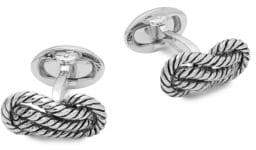 Jan Leslie Sterling Silver Rope Cuff Links