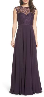 Paige Hayley Occasions Lace & Chiffon Gown