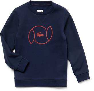 Lacoste Boys' SPORT Fleece And Lettering Tennis Sweatshirt