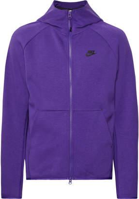 Nike Sportswear Cotton-Blend Tech Fleece Zip-Up Hoodie - Men - Purple