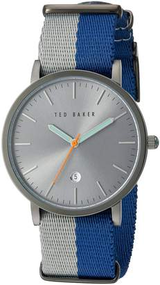 Ted Baker Men's 'Smart Casual' Quartz Stainless Steel and Leather Dress Watch, Color:Grey (Model: 10026447)