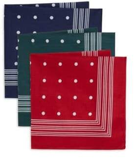 Barbour Set of Three Spotted Handkerchiefs