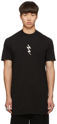 Rick Owens Black Lightning Bolt Level T-Shirt
