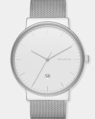 Skagen Ancher Silver-Tone Analogue Watch