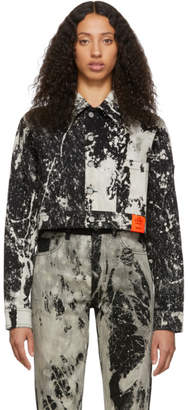 S.R. STUDIO. LA. CA. Black SOTO Denim Hand-Bleached Cropped Jacket