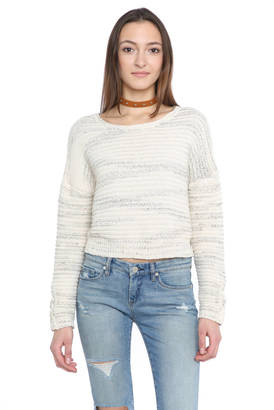 John & Jenn Maya Lace Up Sleeve Pullover Sweater $108 thestylecure.com