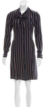 Frame Stripe Long Sleeve Dress