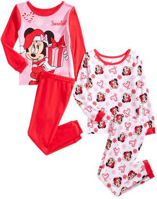 Minnie Mouse Toddler Girls 4-Pc. Cotton Pajama Set