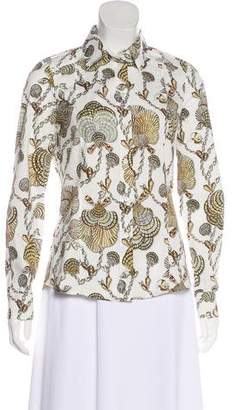 Gucci Shell Print Button-Up Top
