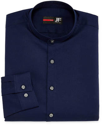 Jf J.Ferrar Casualization Mens Banded Collar Long Sleeve Dress Shirt - Slim
