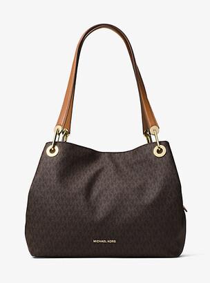 Michael Kors Raven Logo Shoulder Bag