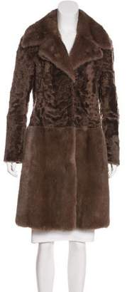 Calvin Klein Collection Mink & Shearling Coat
