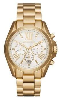 Michael Kors Bradshaw Goldtone Stainless Steel Bracelet Watch