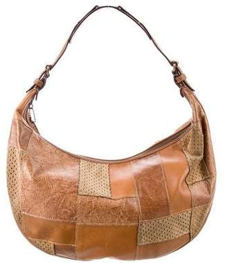 Christian Dior Leather & Suede Patchwork Hobo