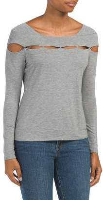 Made In Usa Peek A Boo Cut Out Top