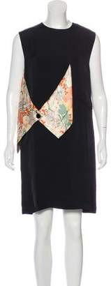 Celine Silk-Accented Knee-Length Dress w/ Tags