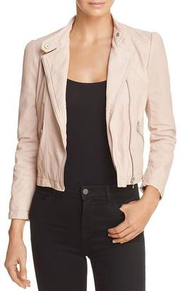 Rebecca Taylor Washed-Leather Motorcycle Jacket